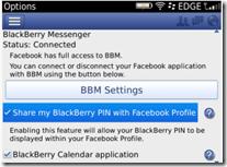 Facebook 3.3 - BBM™ Integration