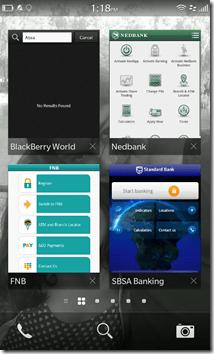 BlackBerry 10 - SA Banks