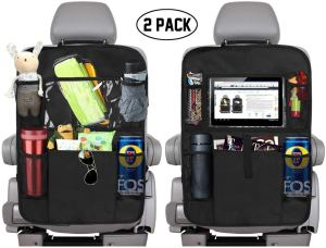KNGUVTH Backseat Car Organizer Kick Mats