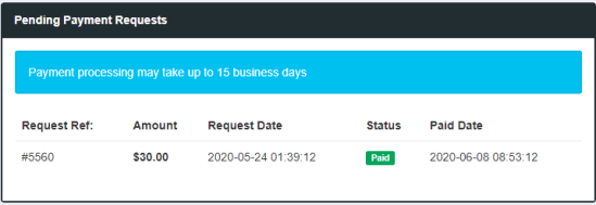 payment request paidera
