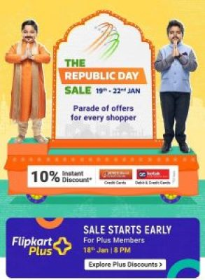 THE Republic day sale amazon flipkart