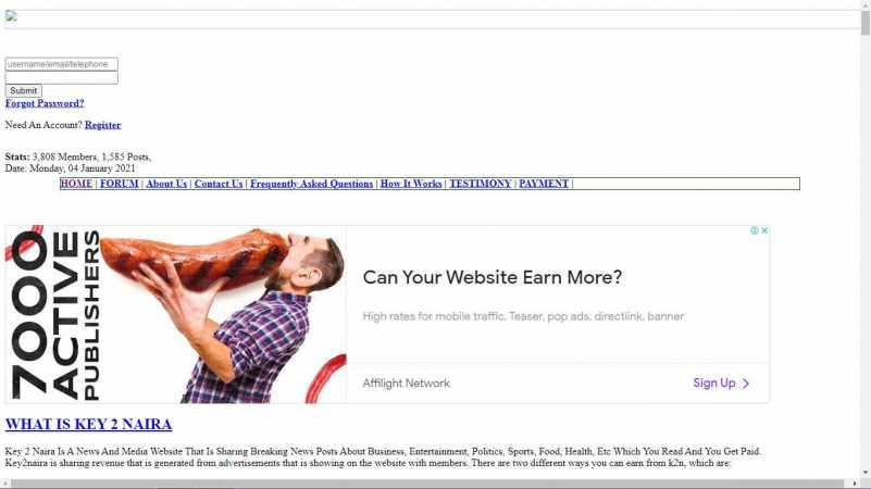 key2n homepage design