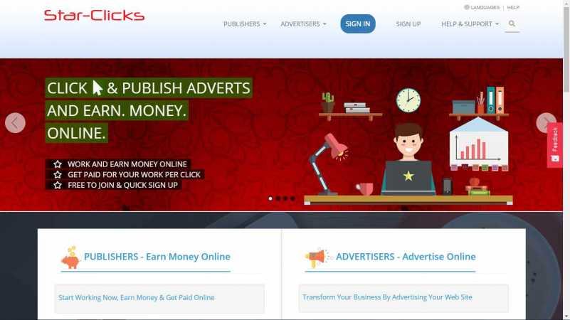 starclicks homepage