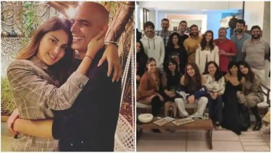 Rhea Chakraborty attends Anusha Dandekar's birthday party with Farhan Akhtar, Shibani; Rajiv Lakshman shares pics – bollywood