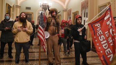 When Shirtless Pro-Trump Man In Fur Helmet With Horns Entered Capitol