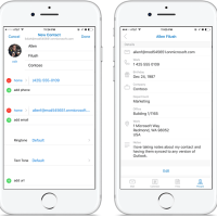 Add and Edit Contacts Right from Outlook on iOS and Android