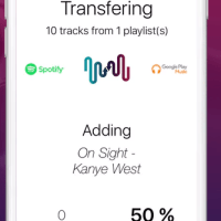 Stamp App for Moving Playlists between Music Services