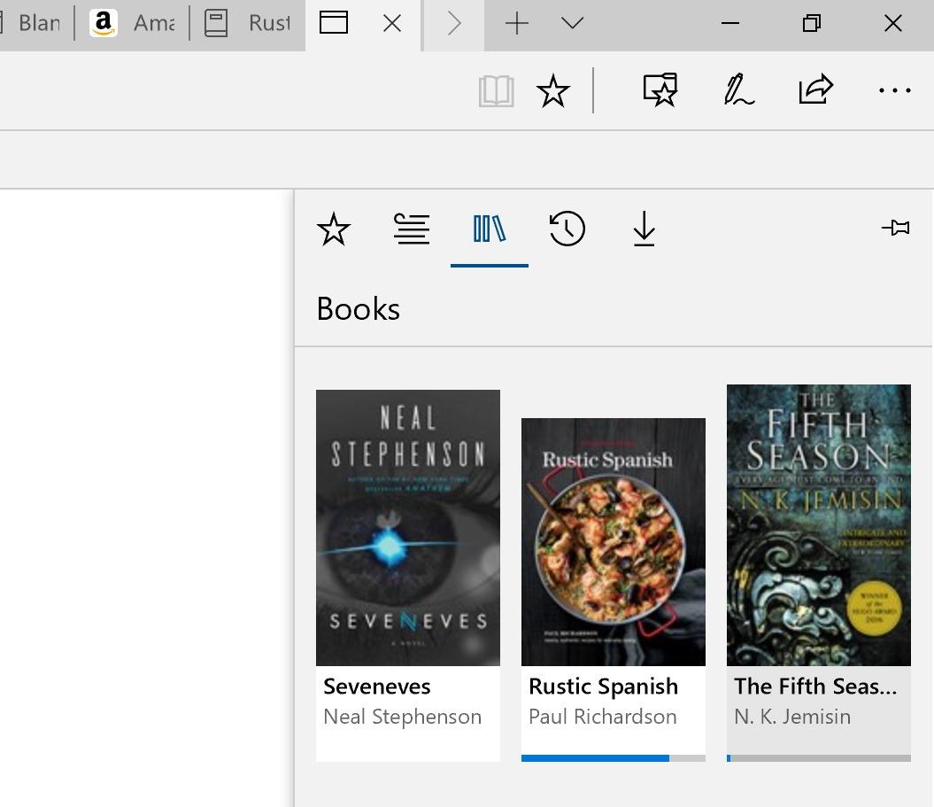 Microsoft Edge as an E-reader