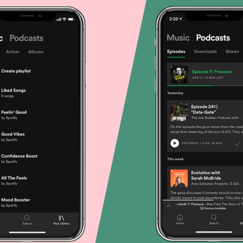 Spotify Splits Up Your Library into Music and Podcast Categories