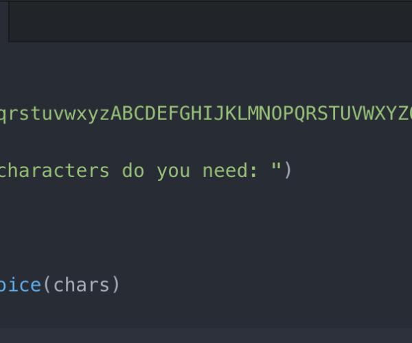 Python Password Generator Script