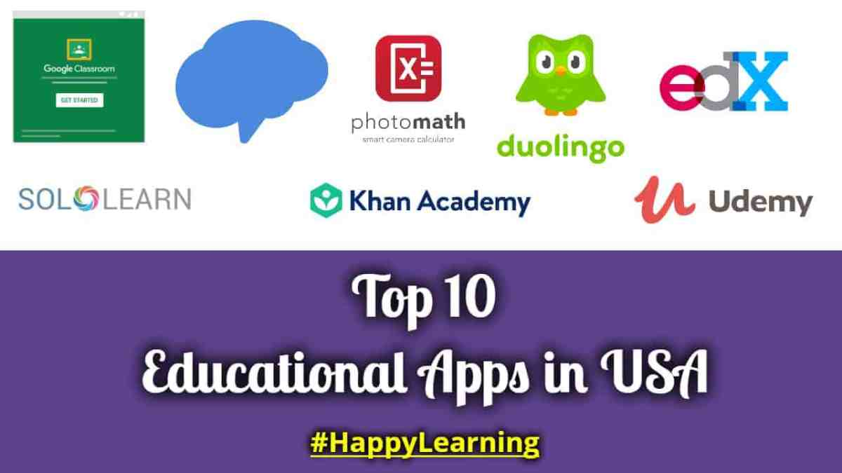 TOP 10 EDUCATIONAL APPS IN USA