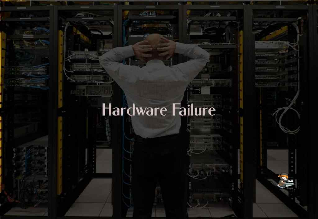 A hardware failure can also cause servers crash