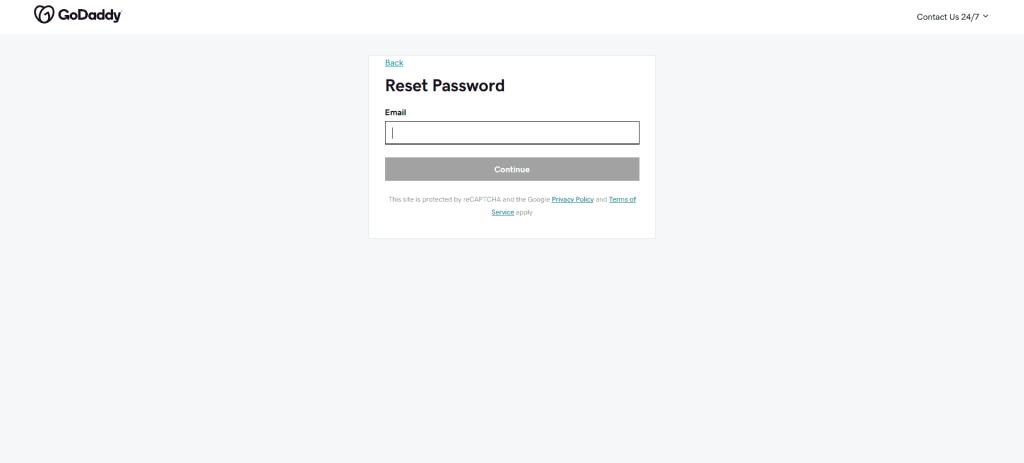 Reset GoDaddy Workspace Email Password
