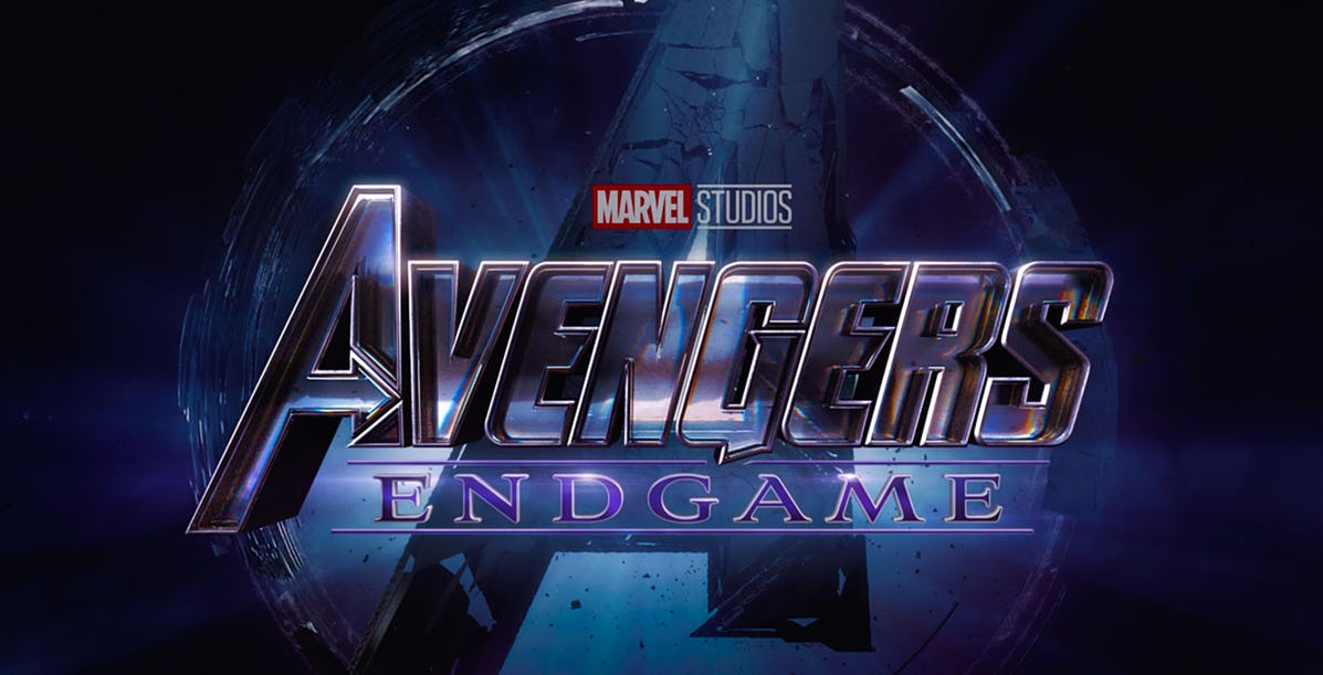 Avengers: Endgame logo and header