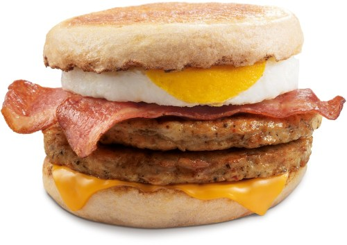 McDonald's McMuffin Stack for breakfast