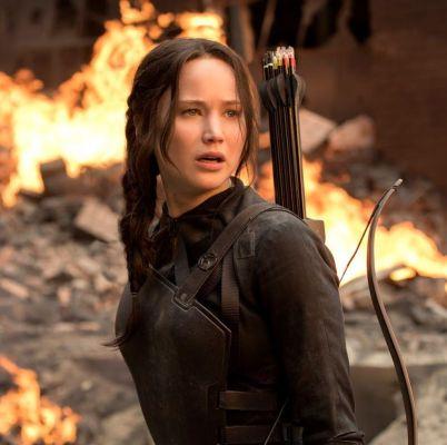 Jennifer Lawrence plays Katniss Everdeen in The Hunger Games films.