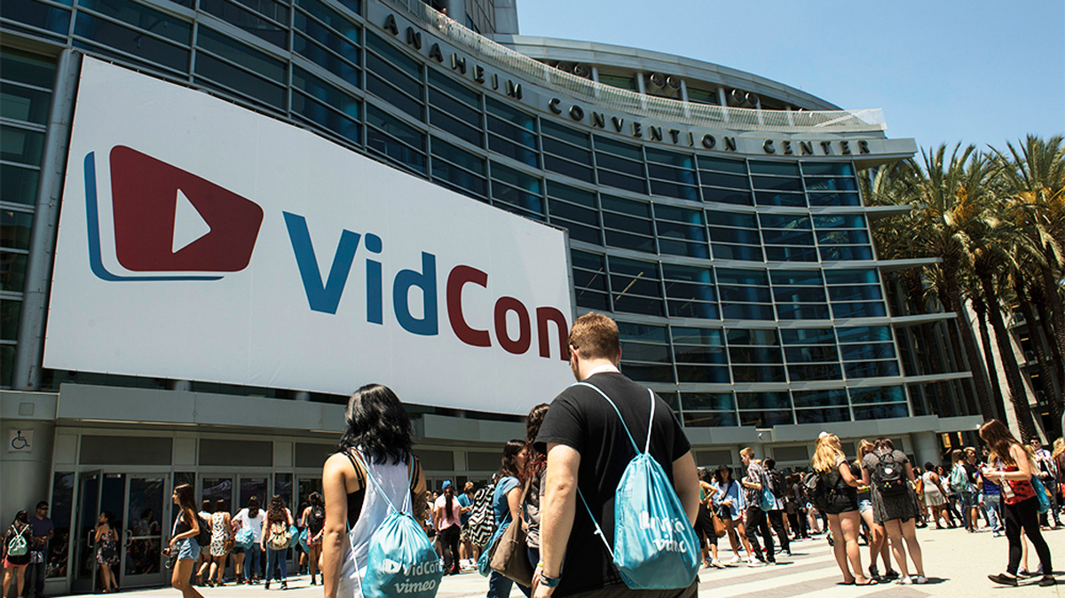 VidCon US in Anaheim (via ED CRISOSTOMO/THE ORANGE COUNTY REGISTER VIA AP)