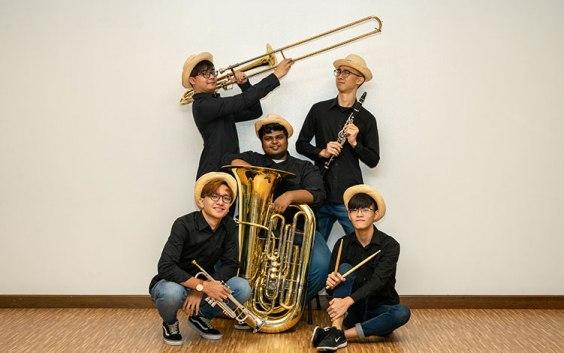 Singaporean brass band Dixieland Youth. via Esplanade.com