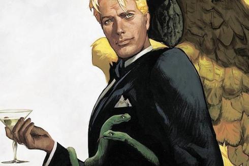 Lucifer in The Sandman comic book series by Neil Gailman, Sam Kieth and Mike Dringenberg via screencrush.com