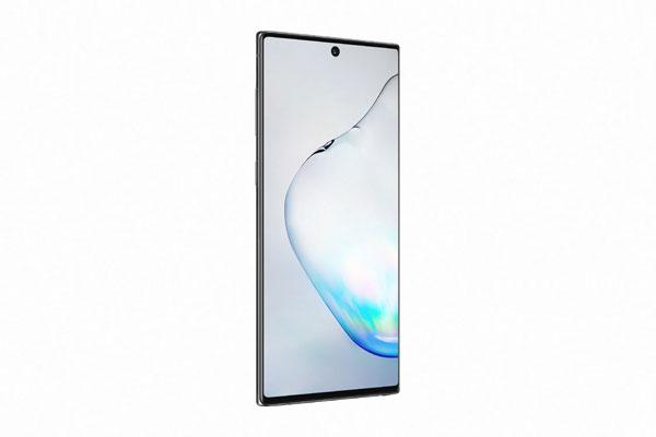 Samsung Galaxy Note10 in Aura Black Courtesy of Samsung
