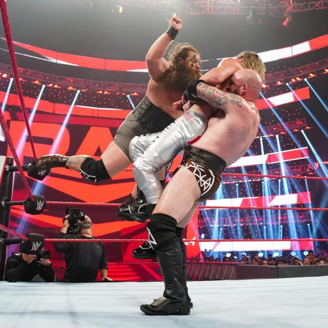 The Viking Raiders taking out Dolph Ziggler via WWE.com