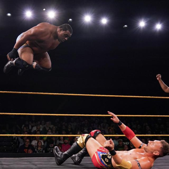 Keith Lee taking a high risk in a heated fight for the No. 1 contender's spot for the NXT North American Championship with Dominik Dijakovic via WWE.com