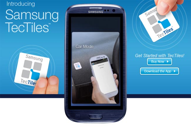 Samsung implementation of NFC: TecTiles Programmable Tags