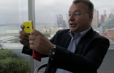 Nokia CEO Elop with Lumia