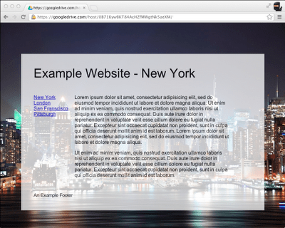 Announcing Google Drive Site Publishing