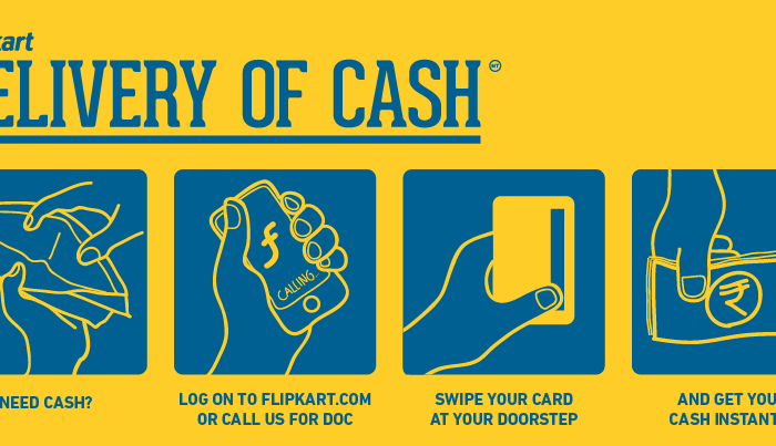 Flipkart Delivery Of Cash, an At-Home ATM Service