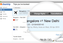cleartrip change flights
