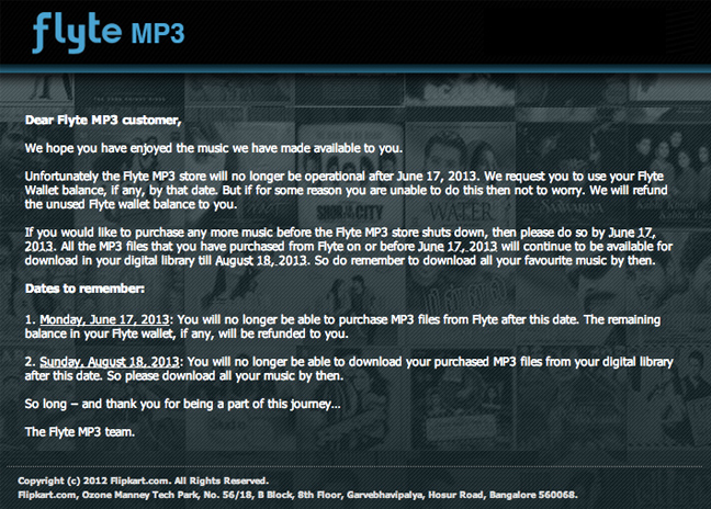 Flipkart Shutting Down Flyte Online Music Store
