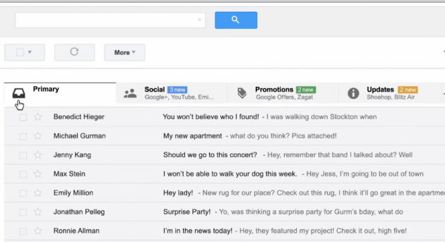 Gmail's New Update Introduces Categories and Tabs