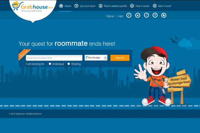 GrabHouse - Pay No Brokerage Fee and still Find a Good Place to Stay