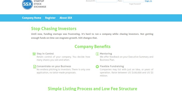 startup stock exchange