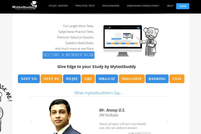 Mytestbuddy - Study, Interact and Stand out Tall in the Academia of Competitive Exams