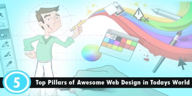 5 pillars of website design