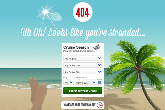 The Anatomy of a Great Error 404 Page