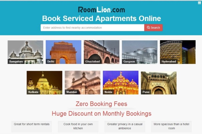 RoomLion.com - Enabling Online booking of Service Apartments Hassle free way!