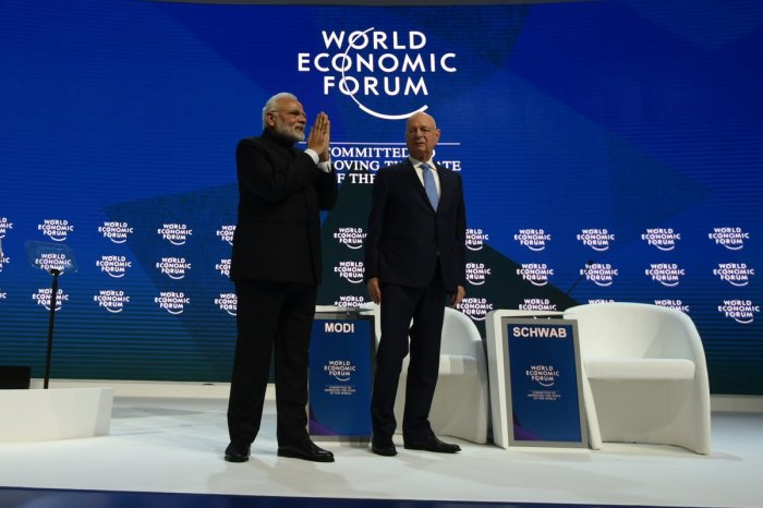 Modi speaks against global threats at pivotal WEF at Davos