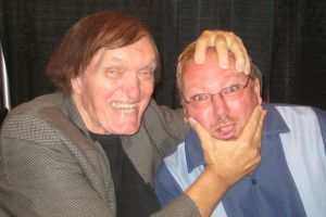 "Jaws"" Richard Kiel and ""Guru of Geek"" Marlo Anderson appear at a tech conference in Las Vegas."