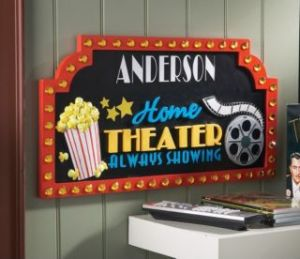 Anderson Home Theatre Sign