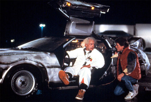 Christopher Lloyd and Micheal J. Fox in Back to the Future