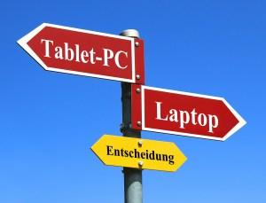 Tablet-PC oder Laptop