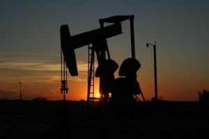 oil monahans, texas, sunset