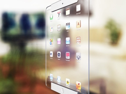 Ricardo Afonso: 3D model of a futuristic tablet concept based on the Apple iPad
