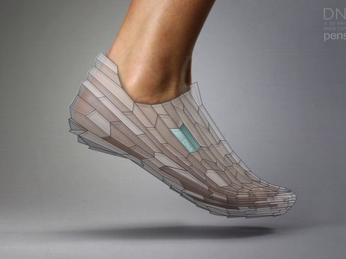 DNA 3D Printed Shoe by Pensar (Concept)