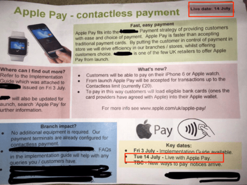 Apple Pay  Coming The UK On July 14th