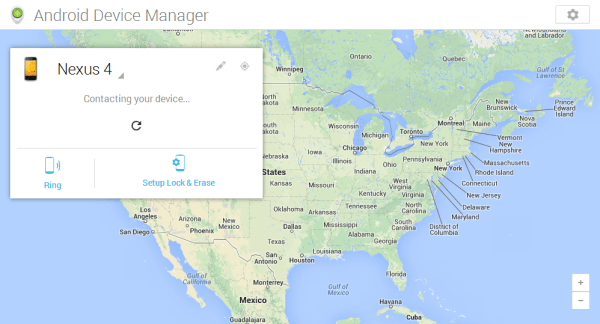 android device manager map shown by the tech temple