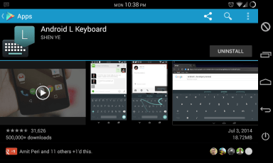 download the android L keyboard via wisemanwhite the tech temple